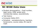 nc wise data uses1