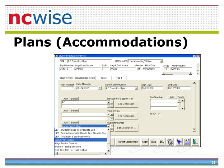 Plans (Accommodations)