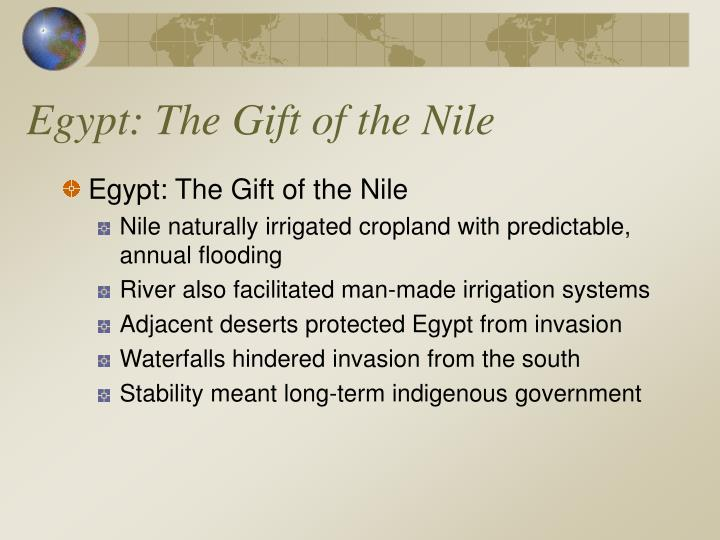 Egypt the gift of the nile