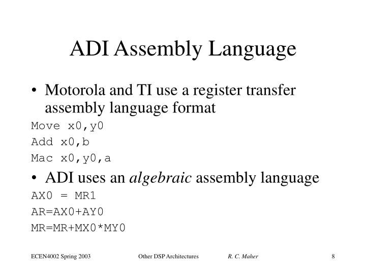 ADI Assembly Language