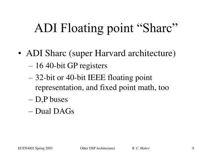 "ADI Floating point ""Sharc"""
