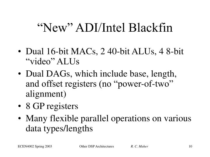 """New"" ADI/Intel Blackfin"