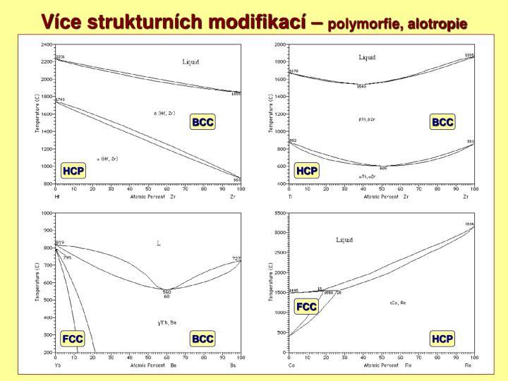 Více strukturních modifikací –
