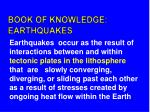 book of knowledge earthquakes