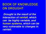 book of knowledge on drought