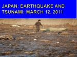 japan earthquake and tsunami march 12 2011