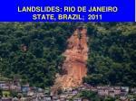 landslides rio de janeiro state brazil 2011