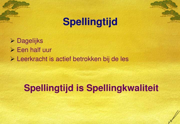 Spellingtijd