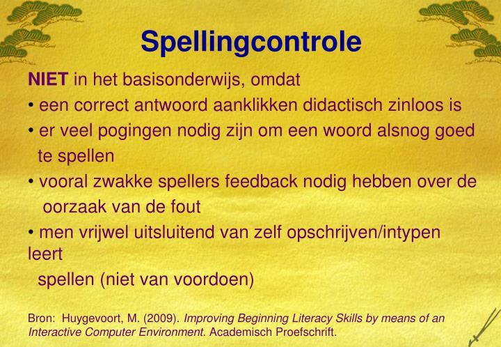 Spellingcontrole
