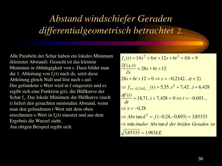 Abstand windschiefer Geraden