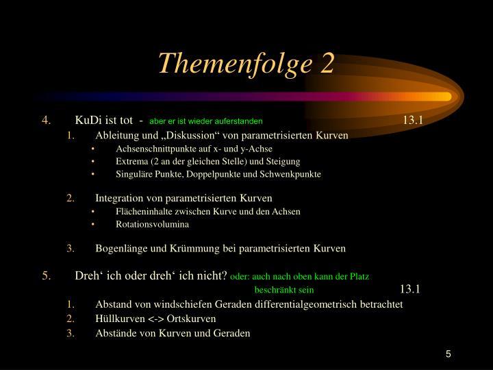 Themenfolge 2