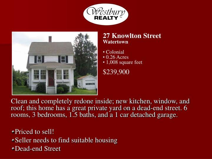 27 Knowlton Street