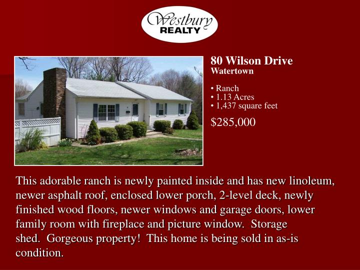 80 Wilson Drive