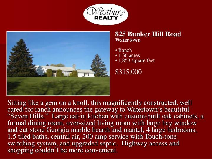 825 Bunker Hill Road
