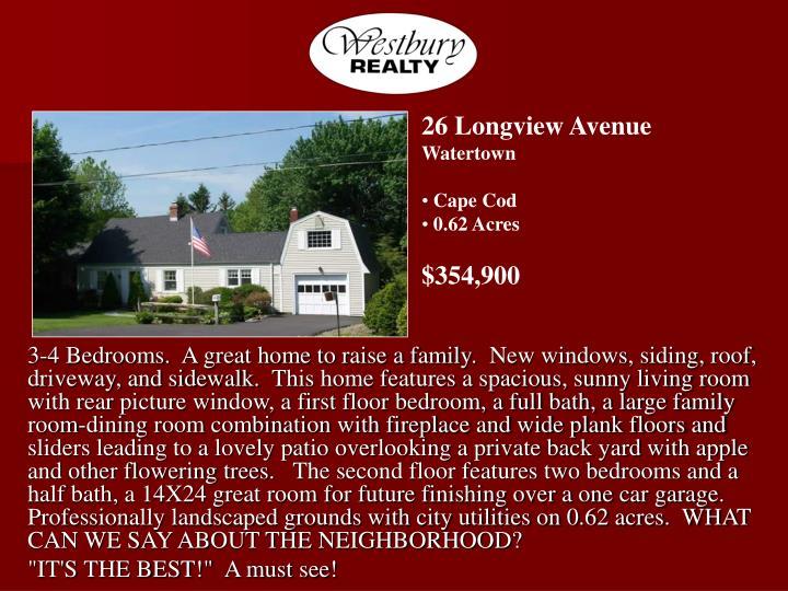 26 Longview Avenue