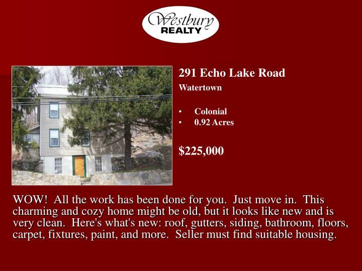 291 Echo Lake Road