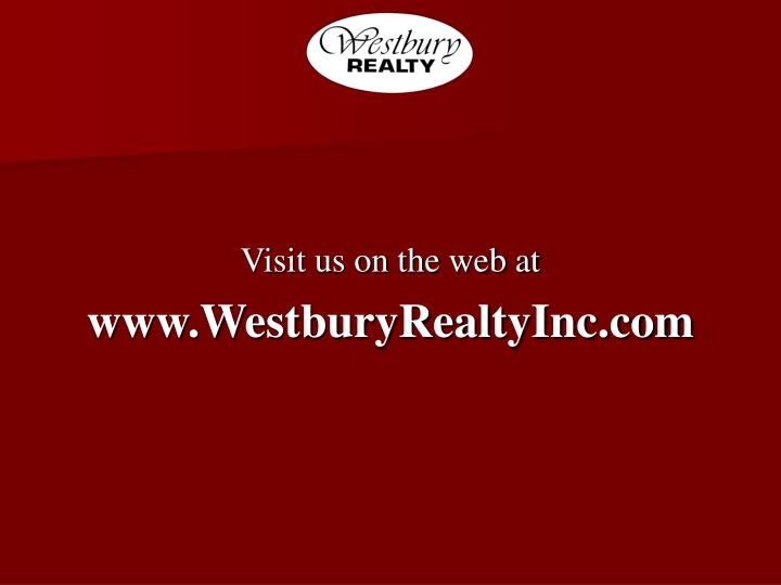 Visit us on the web at