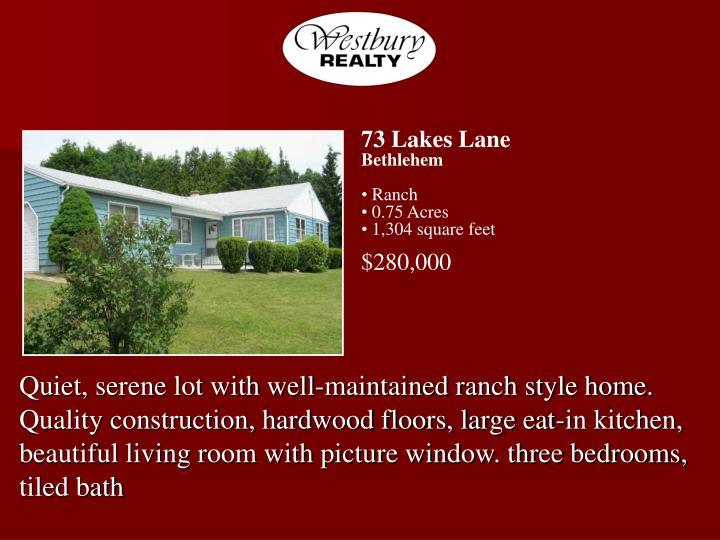 73 Lakes Lane
