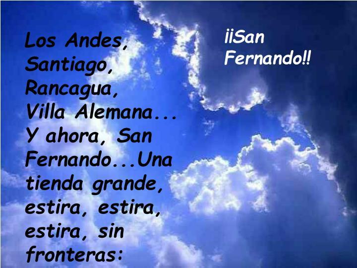 ¡¡San Fernando!!