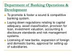 department of banking operations development