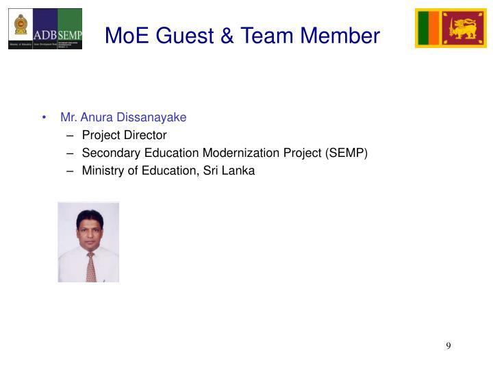 MoE Guest & Team Member