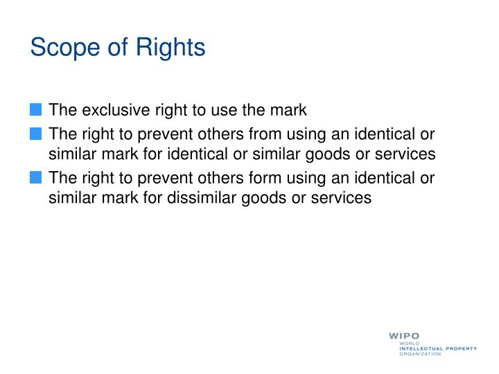 Scope of Rights