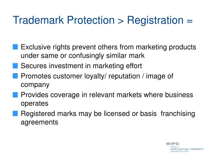 Trademark Protection > Registration =