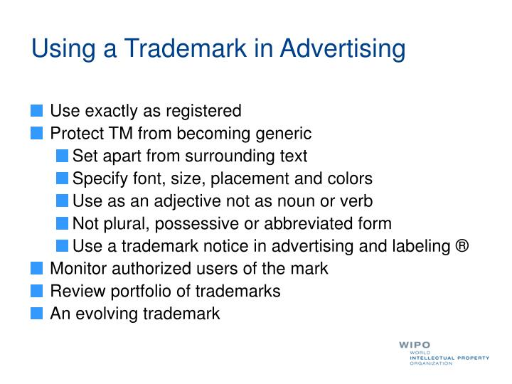 Using a Trademark in Advertising