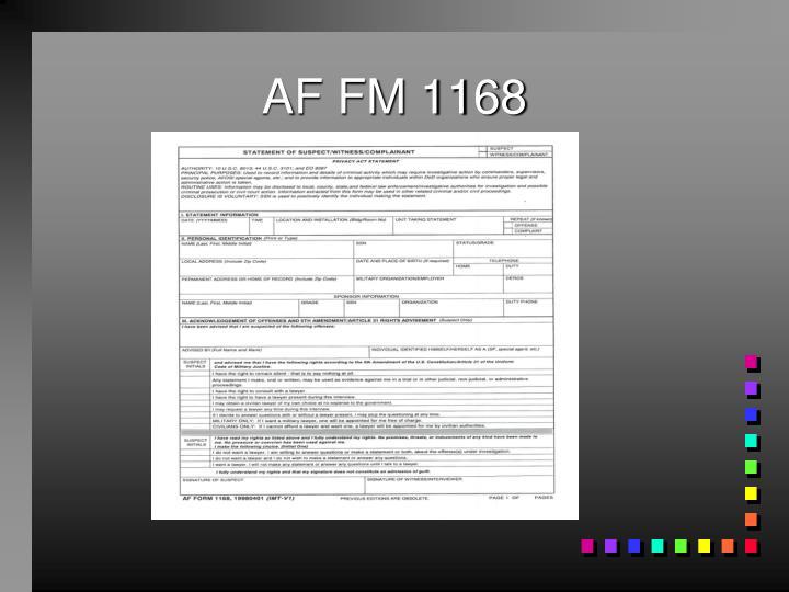 AF FM 1168