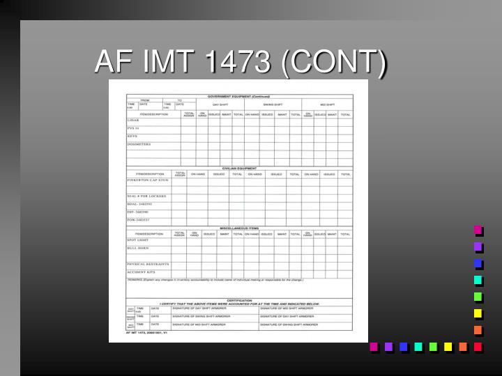 AF IMT 1473 (CONT)