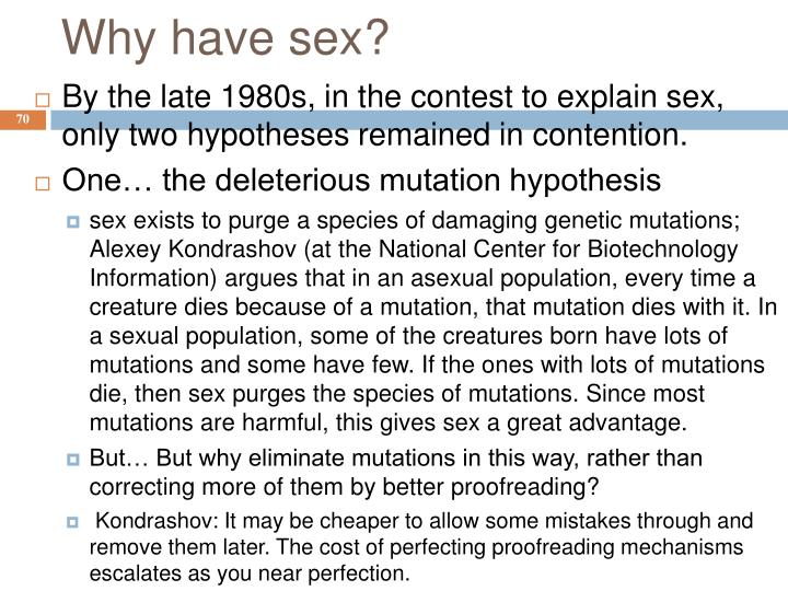 Why have sex?