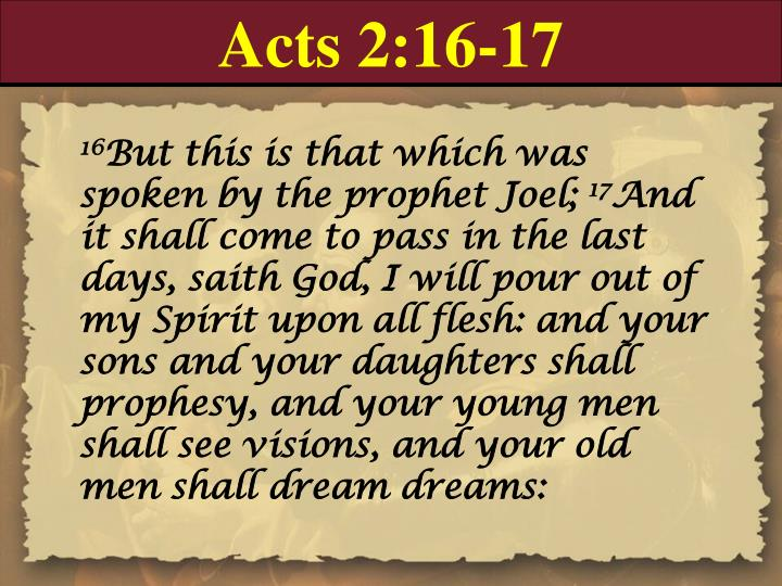 Acts 2:16-17
