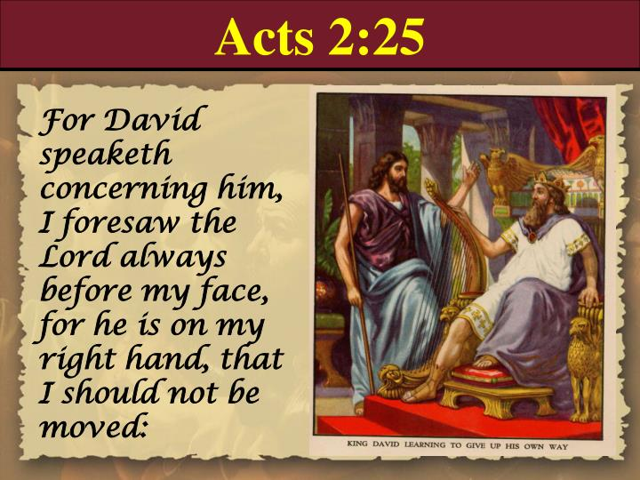 Acts 2:25