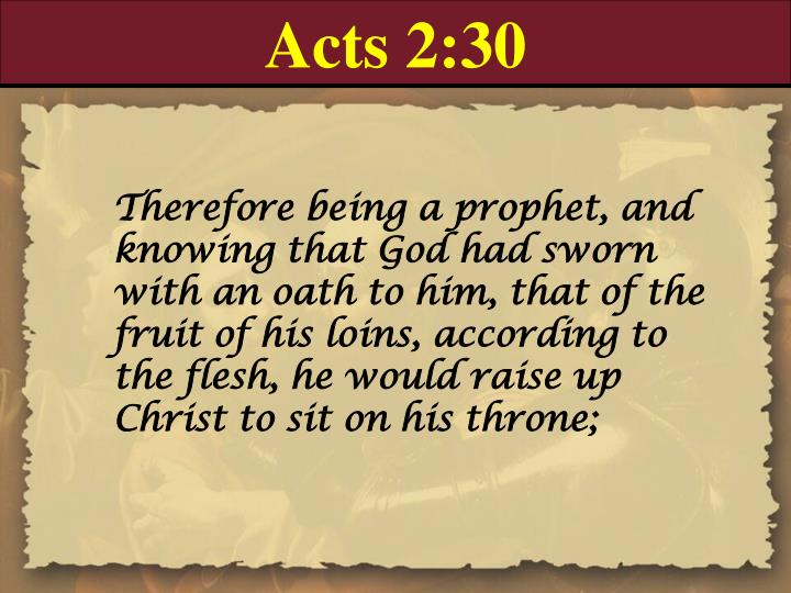 Acts 2:30