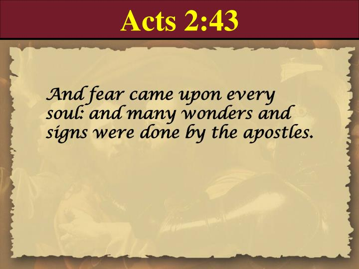 Acts 2:43