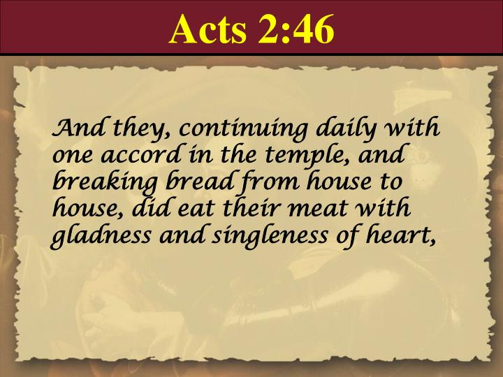 Acts 2:46