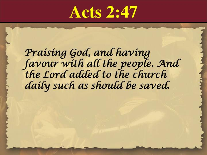 Acts 2:47