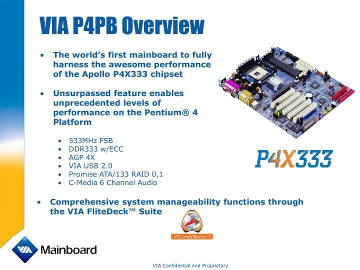 VIA P4PB Overview