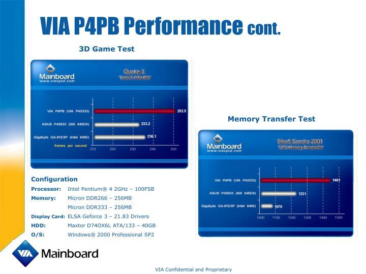 VIA P4PB Performance