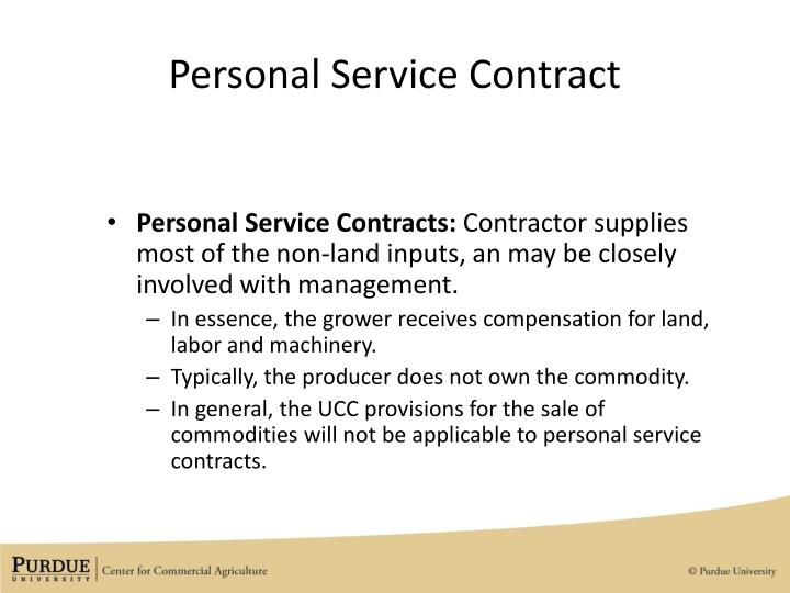 Personal Service Contract