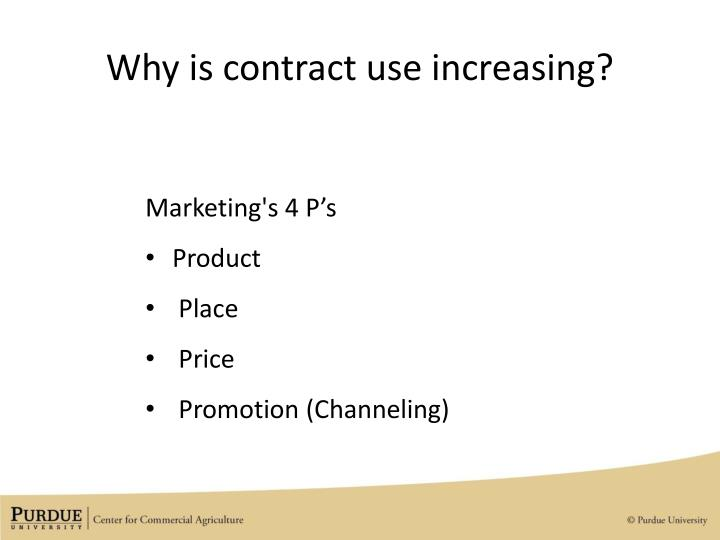 Why is contract use increasing?