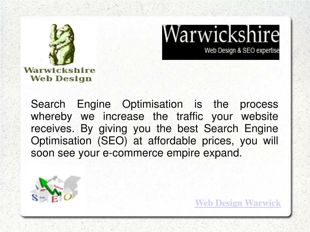 Search Engine Optimisation is the process whereby we increase the traffic your website receives. By giving you the best Search Engine Optimisation (SEO) at affordable prices, you will soon see your e-commerce empire expand.