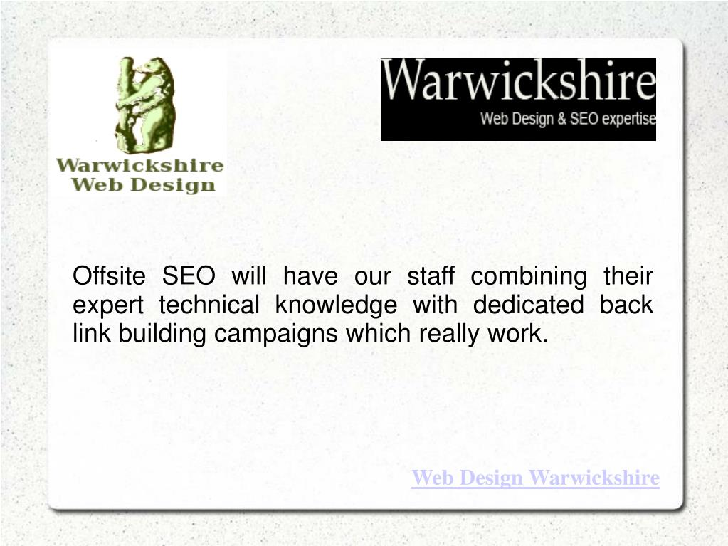 Offsite SEO will have our staff combining their expert technical knowledge with dedicated back link building campaigns which really work.