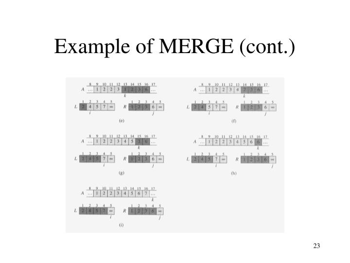 Example of MERGE (cont.)