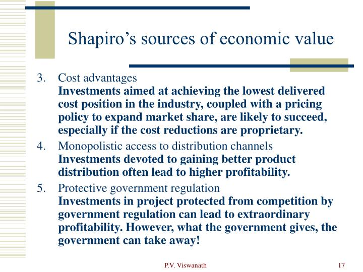 Shapiro's sources of economic value