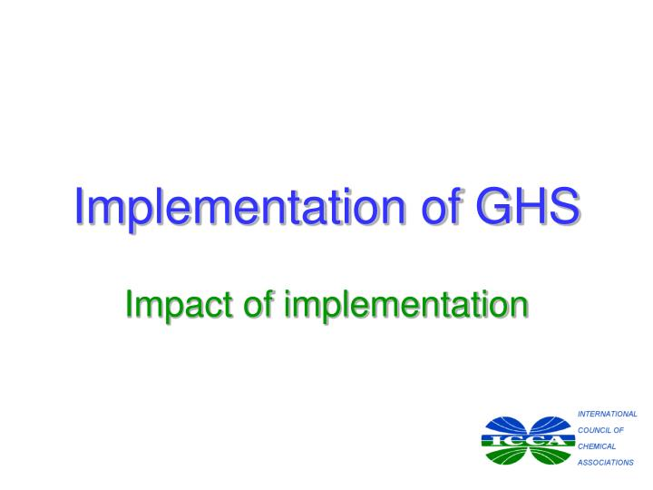 Implementation of ghs1