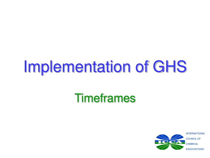 Implementation of GHS
