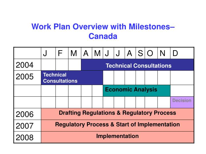 Work Plan Overview with Milestones