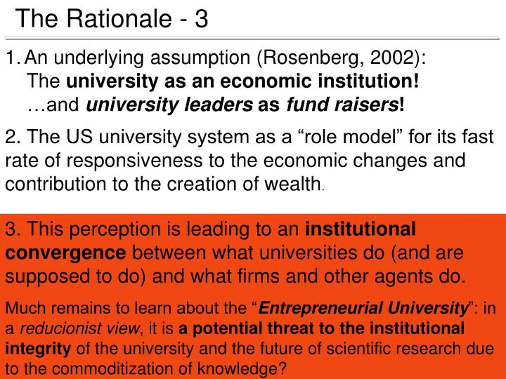 The Rationale - 3