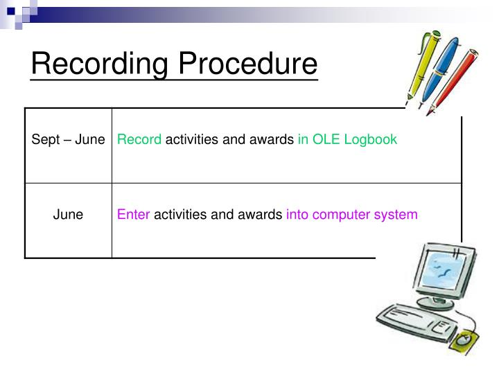 Recording Procedure